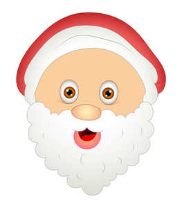 Laughing Cartoon Santa