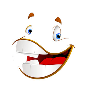 Laughing Cartoon Vector Face