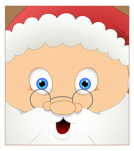 Laughing Cute Santa Face Expression