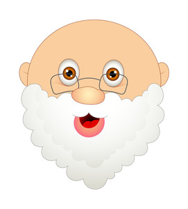 Laughing Funny Santa Face