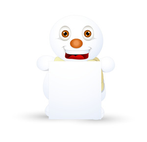 Laughing Snowman Christmas Banner