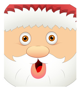 Laughing Xmas Santa Claus