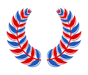 Laurel Wreath 4th Of July Vector Theme Design