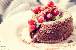 Lava Cake On Plate