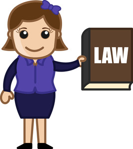 Law Book - Cartoon Bussiness Vector Illustrations