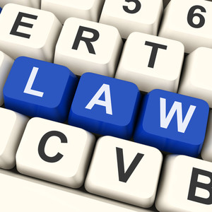 Law Key Shows Legal Or Judicial