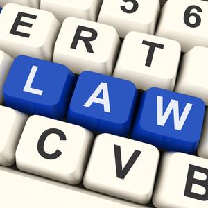 Law Key Shows Legal Or Judicial