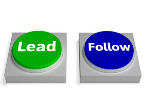 Lead Follow Buttons Shows Leading Or Following