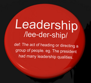Leadership Definition Button Showing Active Management And Achievement