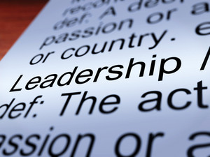 Leadership Definition Closeup Showing Achievement