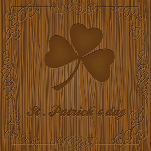 Leaf Clover On Wooden