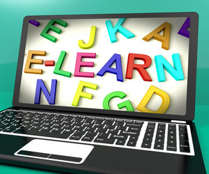 Learn Message On Computer Screen Showing Online Education
