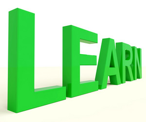 Learn Word For Education Or Online Learning