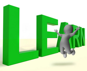 Learn Word Showing Education Training Or Learning