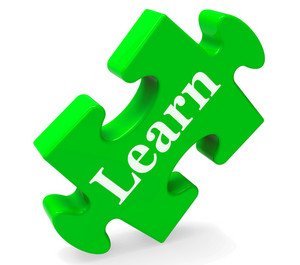 Learn Word Shows Education, Training, Studying