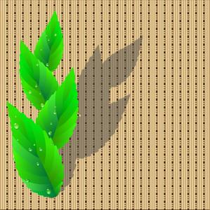 Leaves On Wicker Pattern.