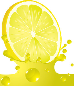Lemon Splash. Vector.