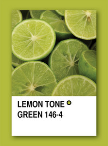 Lemon Tone Green. Color Sample Design