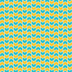 Lemon Yellow And Blue Chevron Pattern