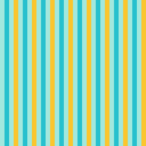 Lemon Yellow And Blue Striped Pattern