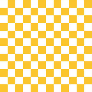 Lemon Yellow And White Checkerboard Pattern