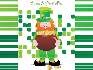 Leprechaun Abstract Illustration