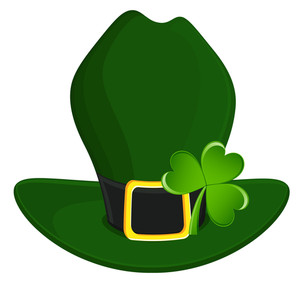 Leprechaun Hat With Clover Leaf