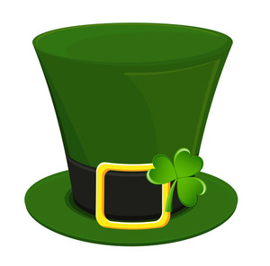 Leprechaun Hat With Shamrock Vector