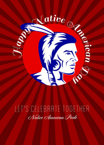 Let Us Celebrate Together Native American Pride Poster