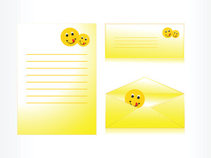 Letter And Envelope With Smiling Face Icon