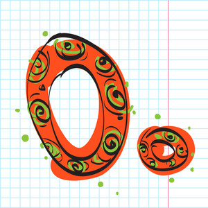 Letter O From Candy Alphabet. Vector Illustration