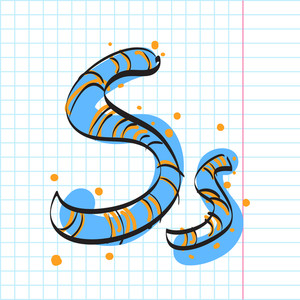 Letter S From Candy Alphabet. Vector Illustration