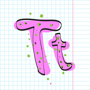 Letter T From Candy Alphabet. Vector Illustration