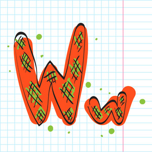 Letter V From Candy Alphabet. Vector Illustration
