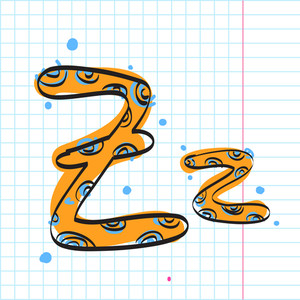 Letter Z From Candy Alphabet. Vector Illustration