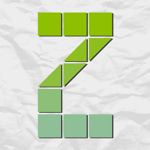Letter Z From Squares And Triangles On A Paper-background. Vector Illustration