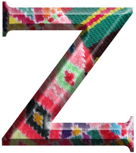 Letter Z Made With Hand Made Woolen Fabric
