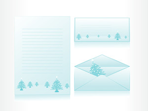 Letterhead With Christmas Background With Envelope