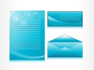 Letterhead With Halftone Background Envelope
