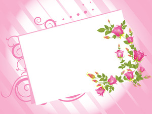 Letterpad With Rose Pattern