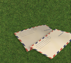 Letters Air Mail I On Grass