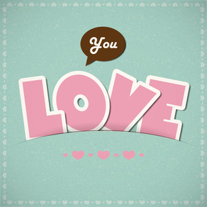 Letters From Paper. Greeting Card. Vector Background.