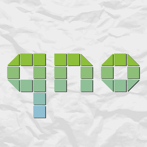 Letters Qno From Squares And Triangles On A Paper-background. Vector Illustration
