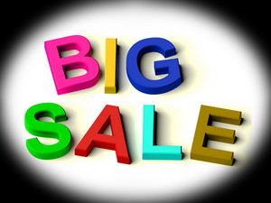 Letters Spelling Big Sale As Symbol For Discounts And Promotions