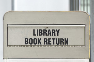 Library Book Return Signboard 294