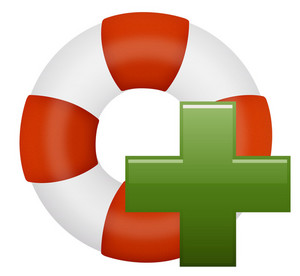 Life Preserver With Plus Sign