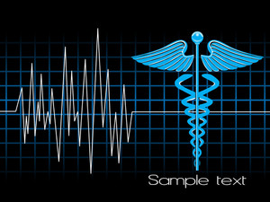 Lifeline In An Electrocardiogram With Caduceus Symbol