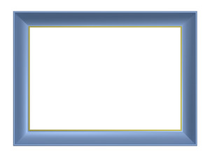Light Blue Frame Isolated On White Background.