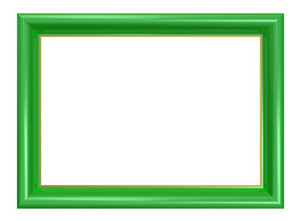 Light Green Frame Isolated On White Background.