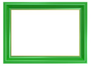 Light Green Frame Isolated On White Background.